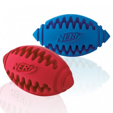 Koera mänguasi NERF Teether Football S green/red