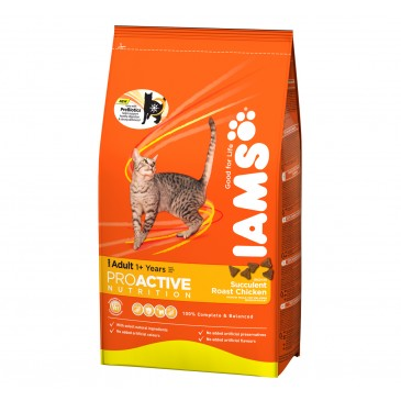Iams ProActive Nutrition with Succulent Roast Chicken, 350 g