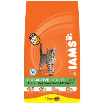 Iams ProActive Nutrition with New Zealand Lamb and Chicken, 1,5 kg