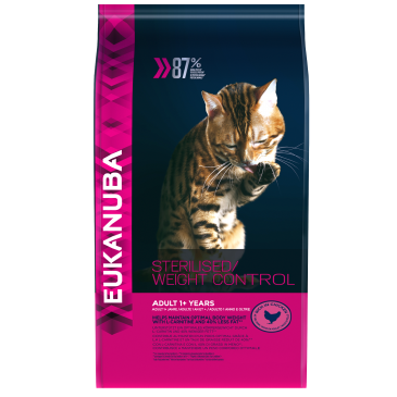 Eukanuba Cat Adult for overweight/sterilised cats, 3 kg