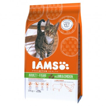 Iams ProActive Nutrition with New Zealand Lamb and Chicken, 3 kg
