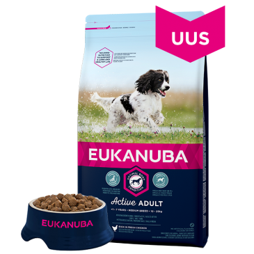 Eukanuba Adult  Medium Breed koeratoit, 12 kg