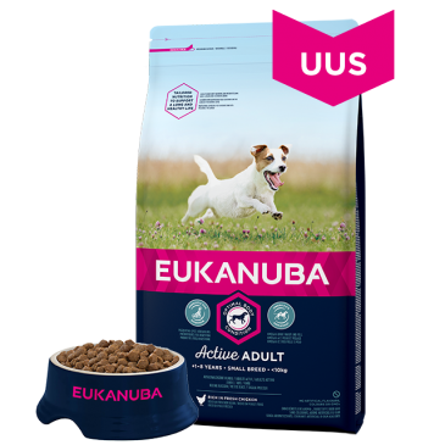 Eukanuba Adult Small Breed koeratoit, 12 kg