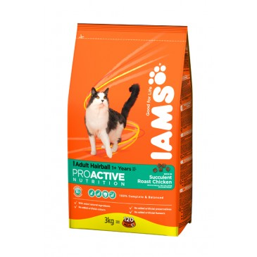 IAMS Cat Adult Hairball Control kanaga 10 kg