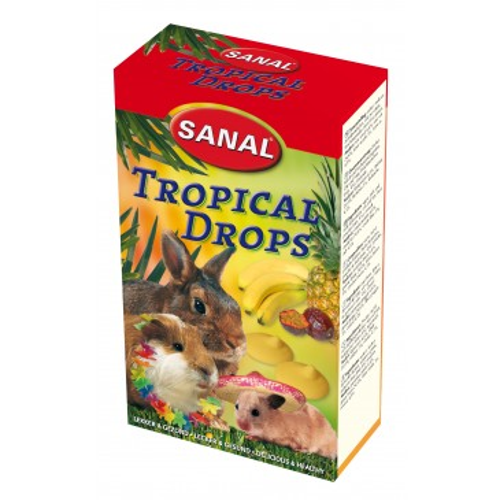 Tropical Drops Sanal, närilistele, 45g.