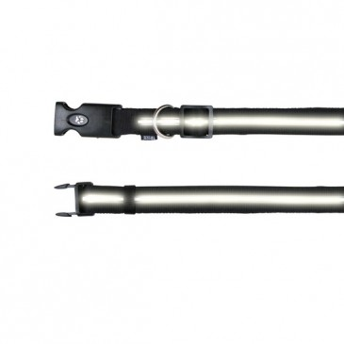 Kaelarihm 'Flash' must, L-XL 42-66cm/25mm