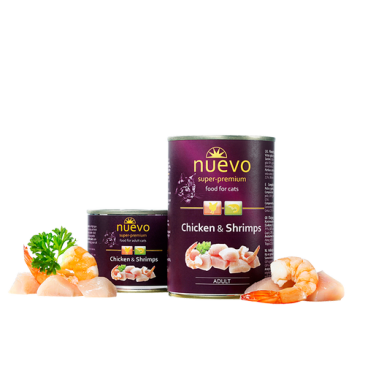 Nuevo Cat Adult Chicken and Shrimps, 200 g