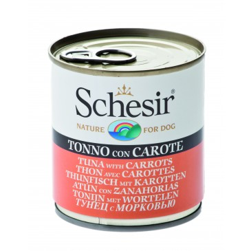 Schesir Dog koerakonserv tuunikala ja porgandiga, 285g