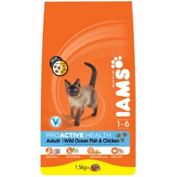 Iams ProActive Nutrition with Wild Ocean Fish and Chicken, 1,5 кг