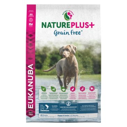 Eukanuba NaturePlus+ Grain Free  Puppy & Junior свежо-замороженный лосось. 2.3КГ