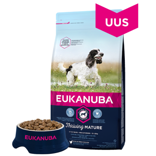Eukanuba Mature and Senior Medium Breed, 15 кг