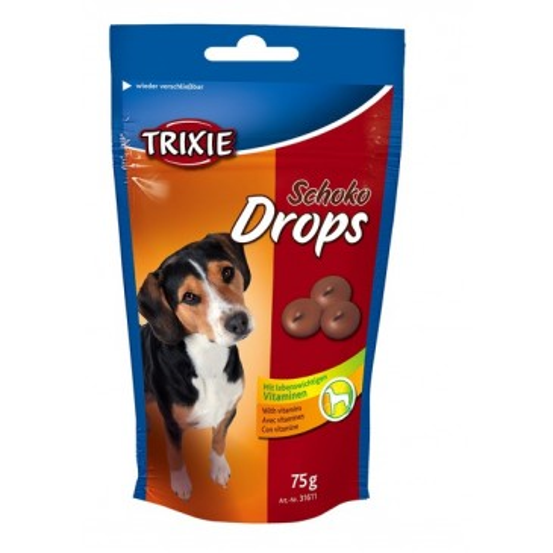 Chocolate Drops, лакомство со вкусом шоколада, для собак, 75г.