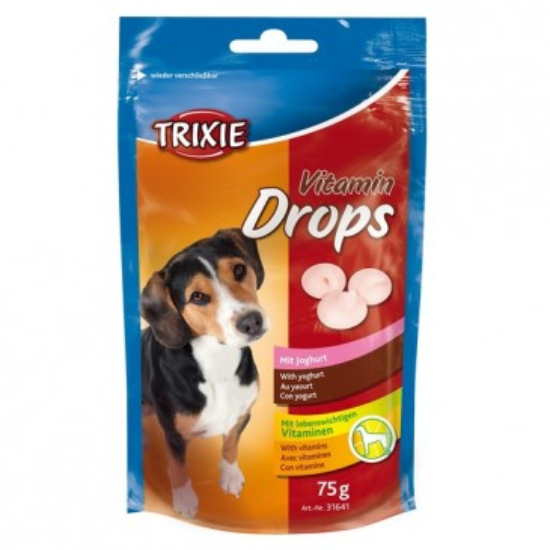 Vitamin Drops лакомство со вкусом йогурта для собак,  75г.