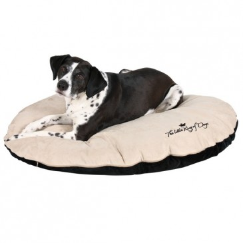 Лежанка King of Dogs, чёрный/бежевый, (60 х 45 см)
