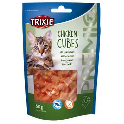 Лакомство для кошек Кубики PREMIO курица 50г