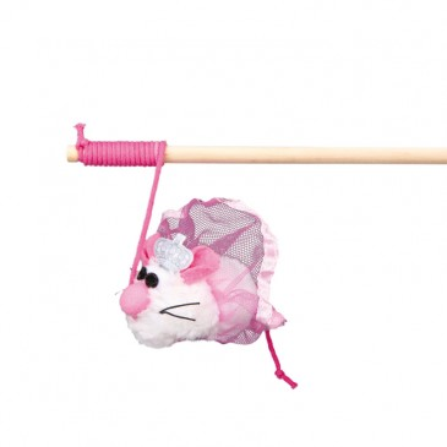 Игрушка мышка на удочке Cat Princess