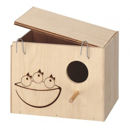 Домик-гнездо из дерева для птиц Nido Medium