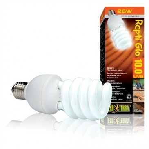 Лампа для пустынного террариума Exo Terra Repti Glo 10.0 Compact, 26Вт