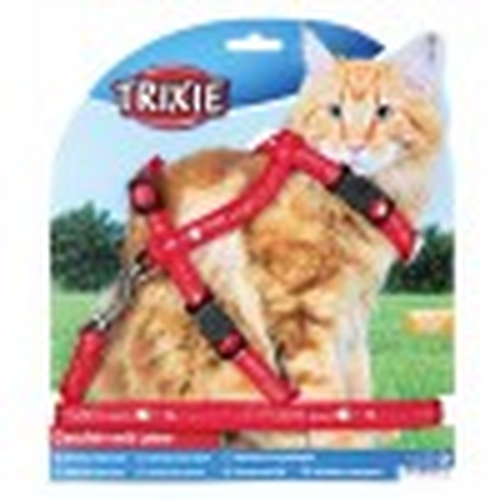 Шлейка с поводком из нейлона для крупных кошек, XL