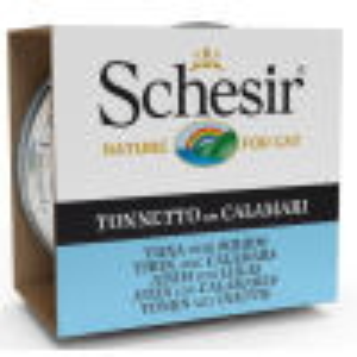 Schesir консервы для кошек тунец с кальмаром в желе 85г